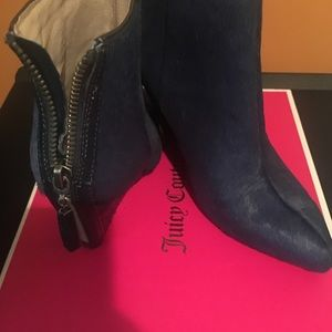Navy Juicy Couture Bootie